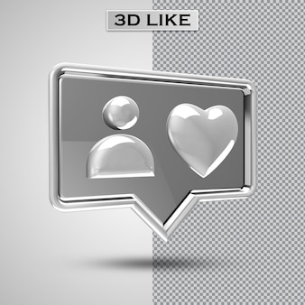 3d jak ikona renderowania