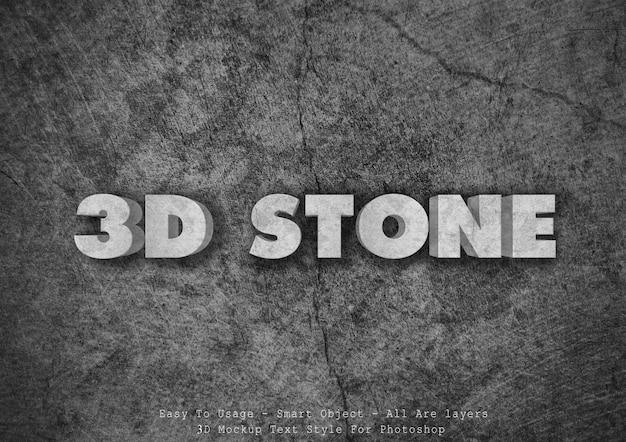 3d kamienny efekt stylu tekstu