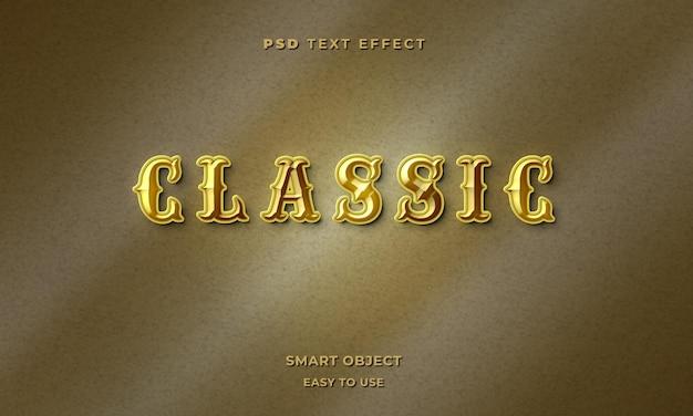 3d klasyczny szablon efektu tekstowego