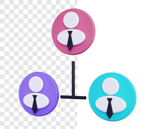 3d koncepcja ilustracji zespołu biznesowego