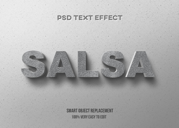 3d konkretny efekt tekstowy