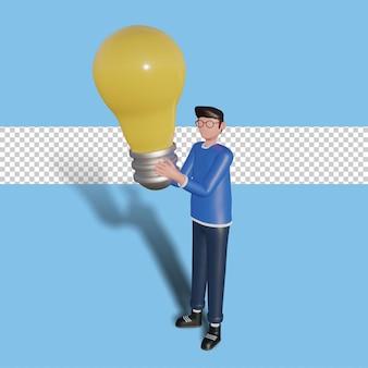 3d kreatywny pomysł postaci ilustracja