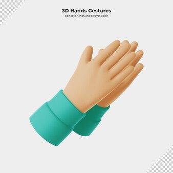 3d kreskówka gest ręki renderowania 3d