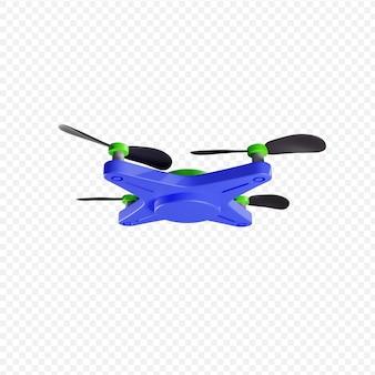 3d latający dron quadrocopter bezzałogowy statek powietrzny nowoczesne technologie