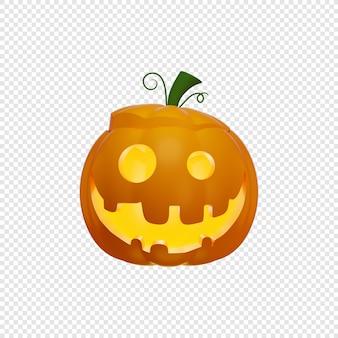3d latarnia z dyni jacks z pokrywką otwartą na głowie ilustracja na białym tle koncepcja halloween