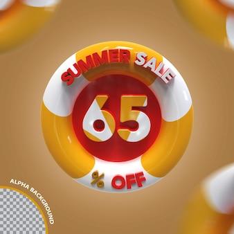 3d letnia wyprzedaż 65 procent oferty kreatywnej