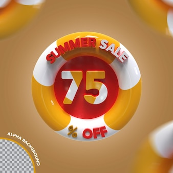 3d letnia wyprzedaż 75 procent oferty kreatywnej