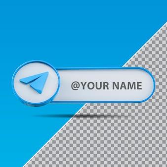 3d logo instagram mediów społecznościowych z polem tekstowym etykiety