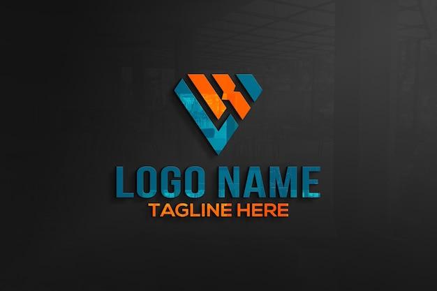 3d logo makieta ściany