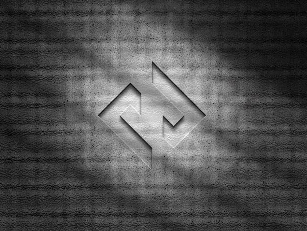 3d makieta logo na tle tekstury ściany