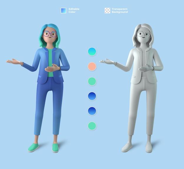 3d makieta postaci kobiecej