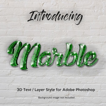 3d marble granite teksturowane efekty tekstowe w stylu photoshop