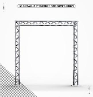 3d metaliczna struktura okrągłych rur