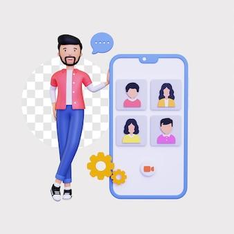 3d mobilne wideo grupowe online