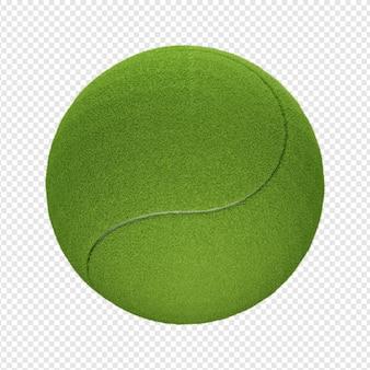 3d na białym tle render ikony piłki tenisowej psd