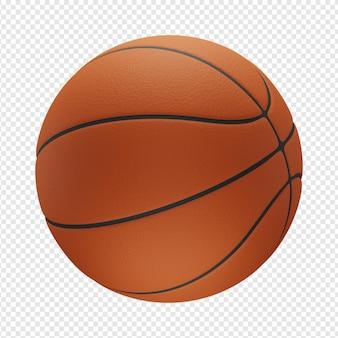 3d na białym tle renderowanie ikony koszykówki psd