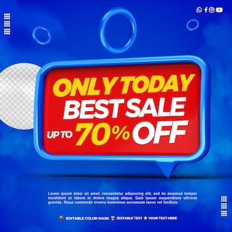 3d najlepsza sprzedaż pola tekstowego ze zniżką 70 procent
