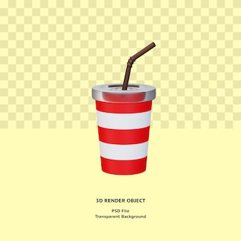 3d napój ilustracyjny obiekt renderowany premium psd