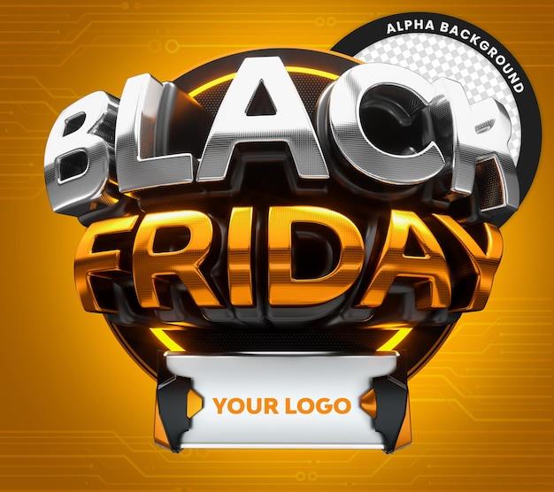 3d neonowa uszczelka czarnego piątku do sprzedaży detalicznej i komercyjnej