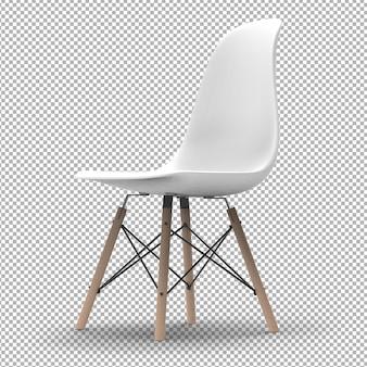 3d nowoczesne krzesło na białym tle