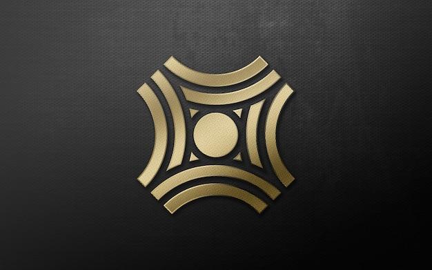 3d nowoczesne złote luksusowe logo makieta