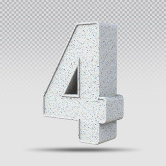 3d numer 4 marmurowy wzór
