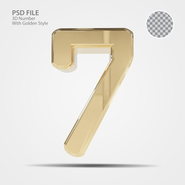 3d numer 7 złota