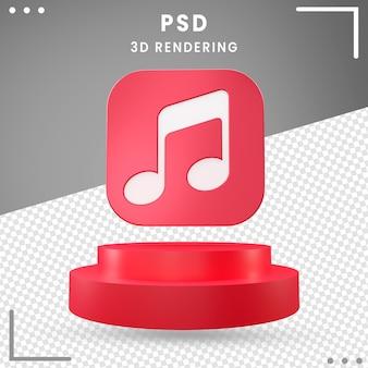 3d obrócone logo ikona projekt muzyki