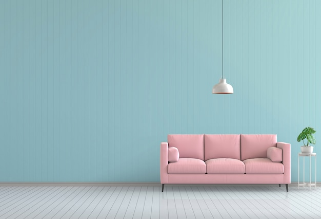 3d odpłacają się wewnętrzny nowożytny żywy koloru pokój