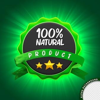 3d pieczęć 100 naturalny produkt do kompozycji