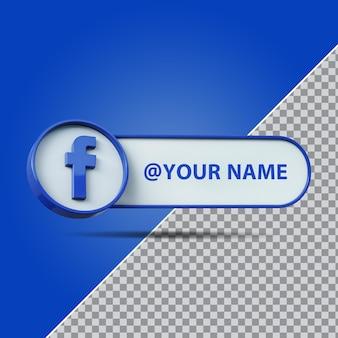 3d pole tekstowe etykiety na facebooku w mediach społecznościowych