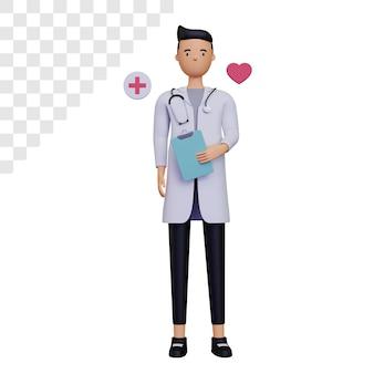 3d postać lekarza medycyny