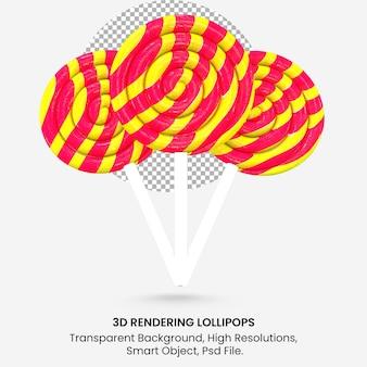 3d realistyczna ilustracja renderowania kolorowa okrągła spiralna kompozycja lizaka