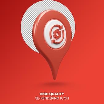 3d realistyczne renderowanie ikona lokalizacji usługi pinezka wskaźnika
