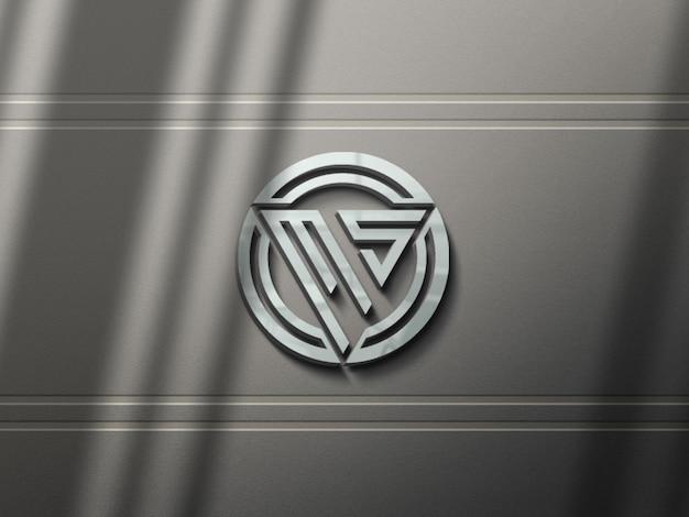 3d realistyczny projekt makiety logo z eleganckim cieniem
