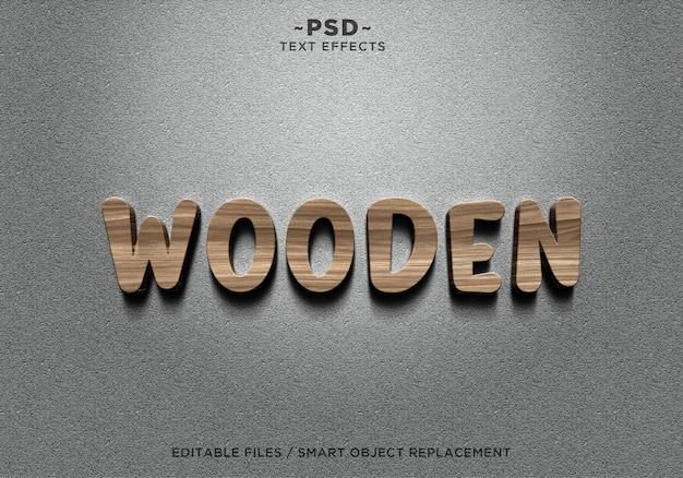 3d realistyczny tekst efektów drewnianych