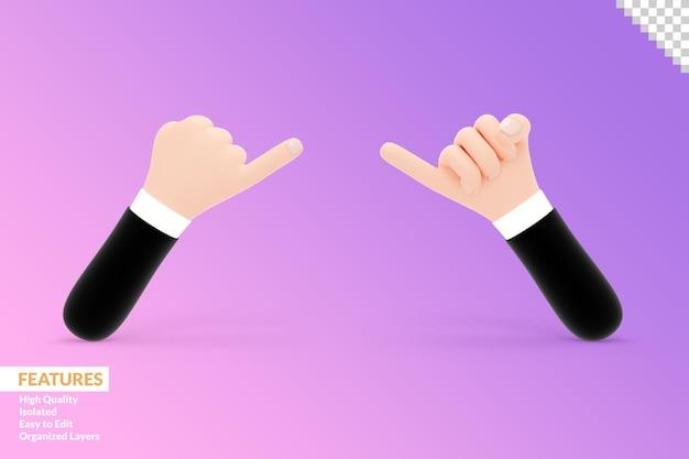 3d ręce pinky gest obietnicy