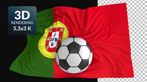 3d render flaga świata piłka nożna piłka nożna