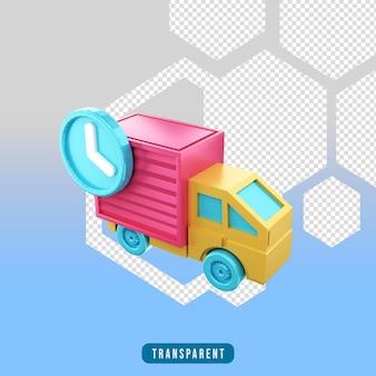 3d render ikona e-commerce dostawa
