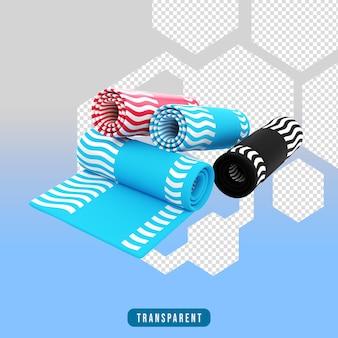 3d render ikona joga dywan sprzęt do ćwiczeń
