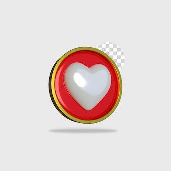 3d render ikona projekt miłości