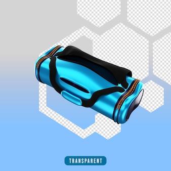 3d render ikona torba sportowa sprzęt do ćwiczeń