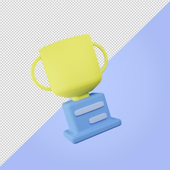 3d render ikona złotego trofeum