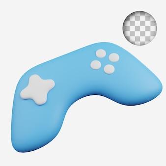 3d render koncepcja technologia ikona kij kontroler gier joystick
