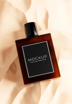 3d render kosmetyków z piaskiem do wyświetlania produktu product