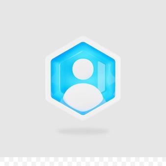 3d render ludzie ikona na białym tle