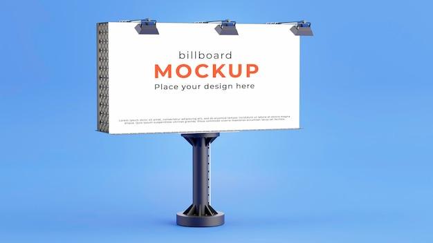 3d render makiety białej tablicy reklamowej
