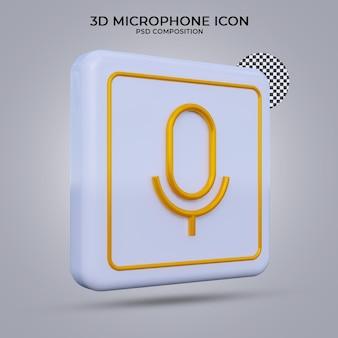3d render megafon ikona na białym tle