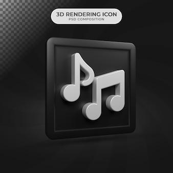 3d render projektowania ikon muzyki