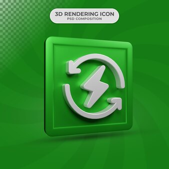 3d render projektowania ikony energii